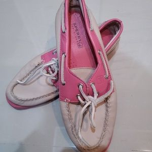 Pink sperry top-sider shoes